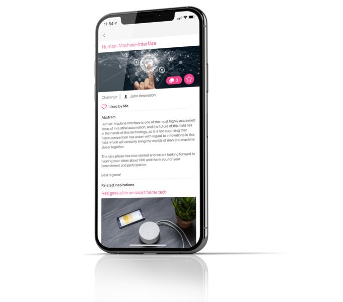 Veröffentlichung von Innovationskampagnen weltweit mit ITONICS Inspirator App
