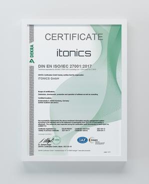 ISO 27001 Zertifikat Innovationssoftware