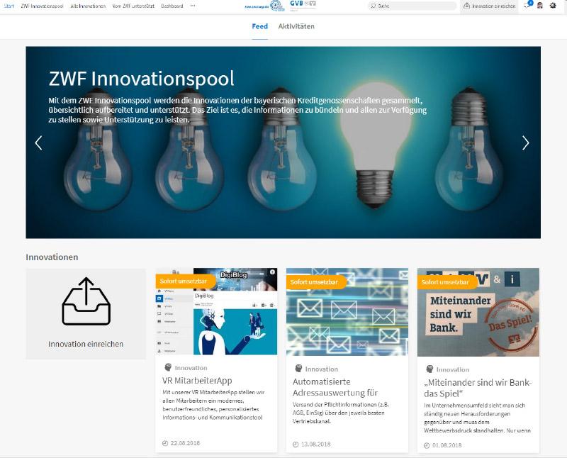 Startseite Innovationspool bayerische Genossenschaftsbanken